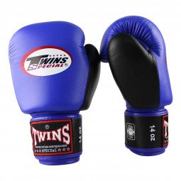 Gants de boxe Twins BGVL 3 Bleu/Noir
