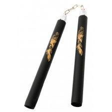 Nunchaku à Chaine Mousse 30cm Noir/Or