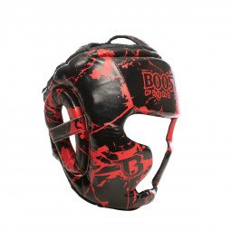 Casque de boxe HGL B2 Youth Marbre rouge