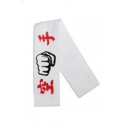 Hachimaki (Bandeau de karaté/Kung Fu) Poing