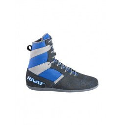 Chaussures BF- Boxe Francaise Rivat Top Classique Bleu Roy / Gris
