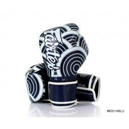 Gants de Boxe Fairtex d'Entraînement FXV14 Blue Japanese Art