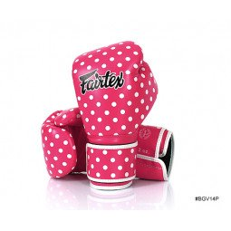 Gants de Boxe d'Entraînement Fairtex FXV14 Pink Polka Dot