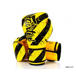 Gants de Boxe d'Entraînement Fairtex FXV14 Yellow Grunge