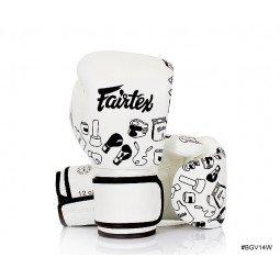 Gants de Boxe d'Entraînement Fairtex FXV14 White Graffiti