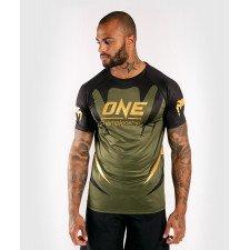 T-Shirt Dry Tech Venum X One FC kaki/doré