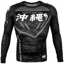 Rashguard Venum Okinawa 2.0 - Manches Longues - Noir/Blanc