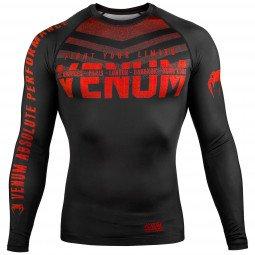 Rashguard Venum Signature à manches longues Noir/Rouge