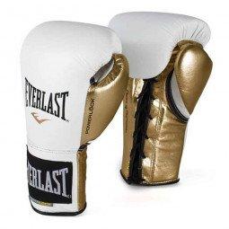 Gants de boxe combat Everlast Powerlock Pro Blanc/Or