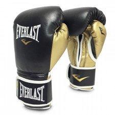 Gants de boxe entraînement Everlast Powerlock Simili-cuir Noir/Or