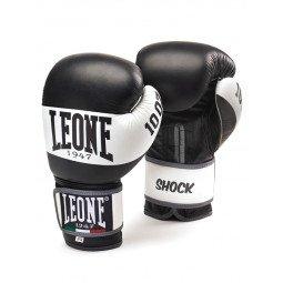 """Gants de boxe Leone 1947 """"Shock"""" Noir cuir"""