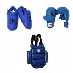 Pack protection karaté Kumite Starter bleu