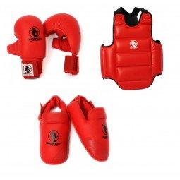 Pack protection karaté Kumite Starter rouge
