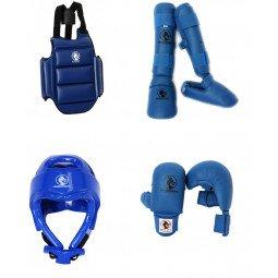 Pack protection karaté Kumite Expert bleu