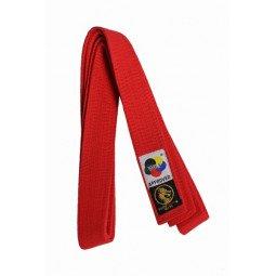 Ceinture de karaté Elite rouge WKF