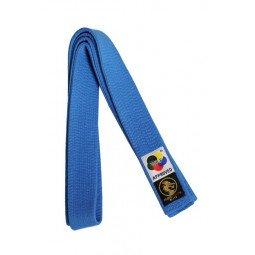 Ceinture de karaté Elite bleue WKF