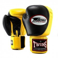 Gants de boxe entraînement Twins BGVL 9 Black/Yellow