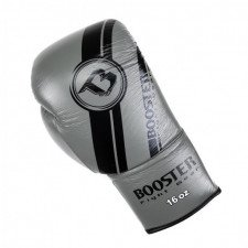 Gants de boxe BGL V3 Noir/Gris lacets