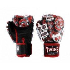 Gants de boxe Twins Special Fantasy 4 Skull Red