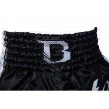 Short de boxe thaï Booster TBT Pro Slugger noir & blanc