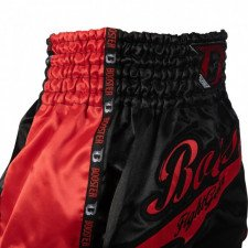 Short de boxe thaï Booster TBT Pro Slugger rouge & noir