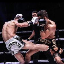 Short de boxe thaï WickedOne Shining noir & or