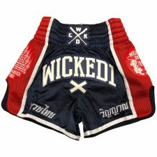 Short de boxe thaï WickedOne Flag bleu & rouge