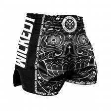 Short de boxe thaï WickedOne Mexican Skull noir