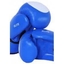 Gants karaté contact cuir bleu