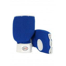 Protege Mains Coton Souple Bleu