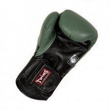 Gants de boxe Twins BGVL 6 Noir/Vert Olive
