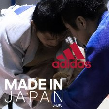 Kimono Judo Adidas Made in Japan Bleu IJF