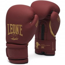 Gants de boxe Leone vintage bordeaux