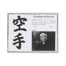 Certificat de Karaté