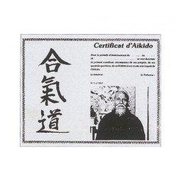 Certificat d'Aikido