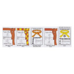 Certificats de Ceinture (judo, Karaté, Taekwondo)