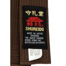 Ceinture Karaté Shureido Marron coton