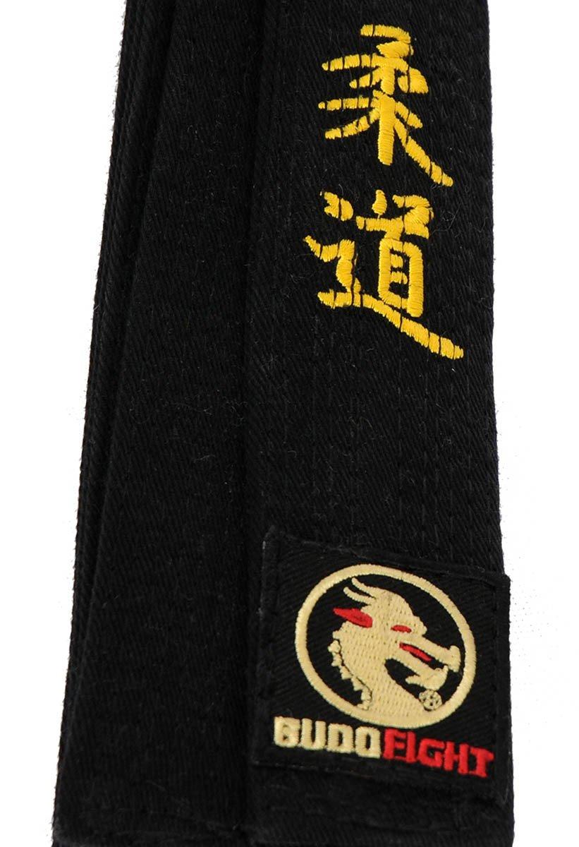 Ceinture Judo Piquée Noire Brodee Judo