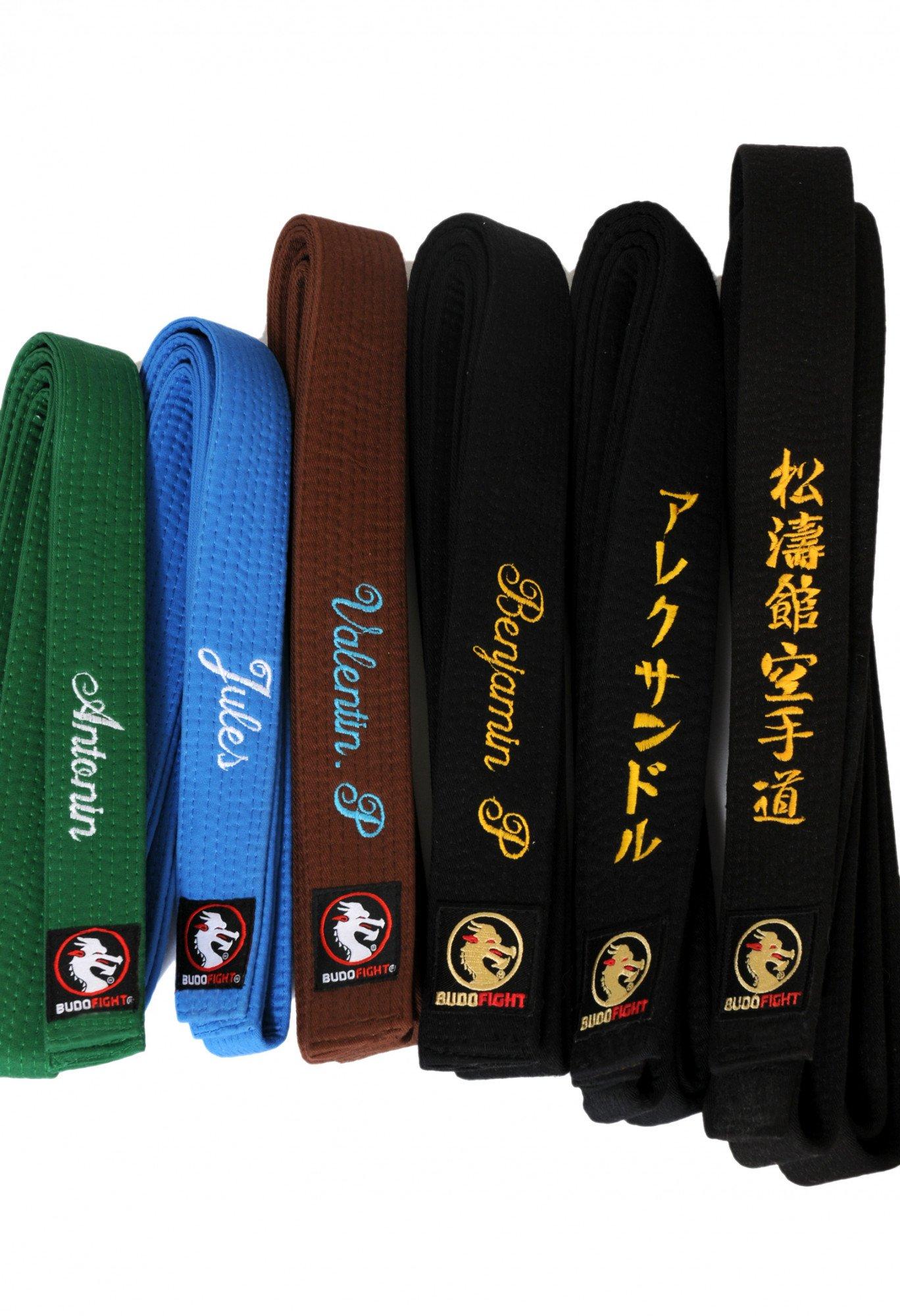 plutôt cool large sélection très convoité gamme de Ceinture Judo Piquée Noire Brodee Judo