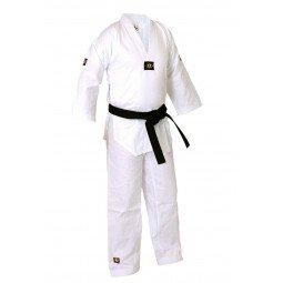 Dobok de Taekwondo col blanc