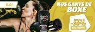 Jusqu'à -30% sur nos gants de boxe avec Budo Fight