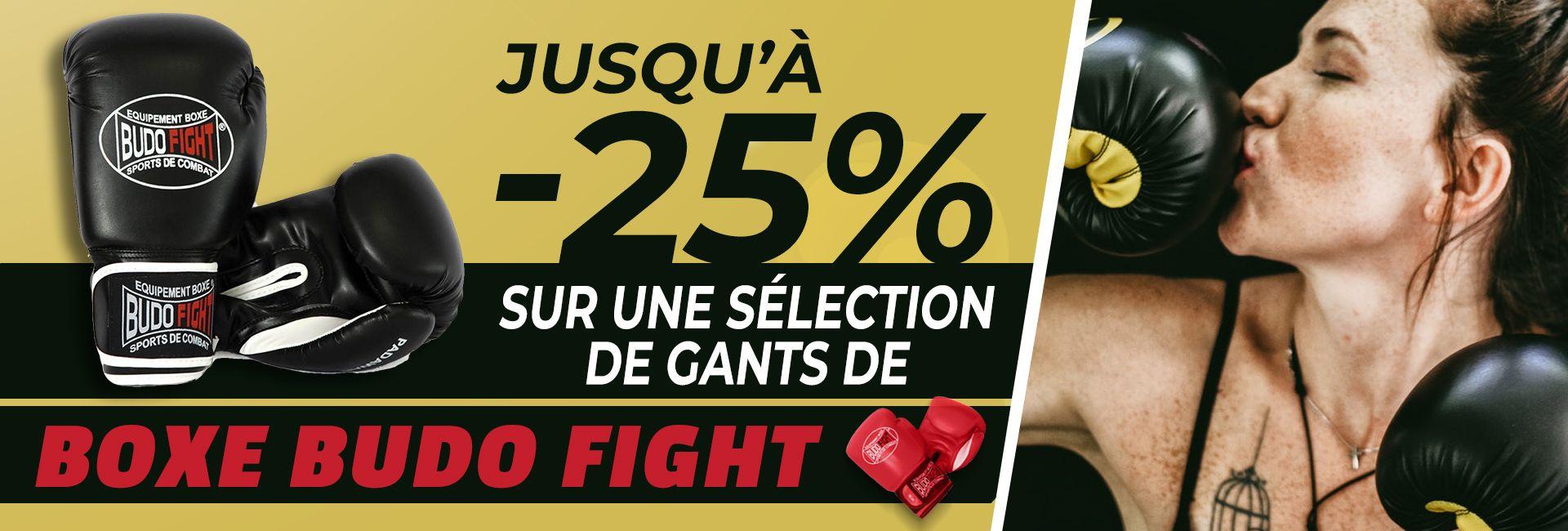 Jusqu'à -25% sur les gants de Boxe Budo Fight