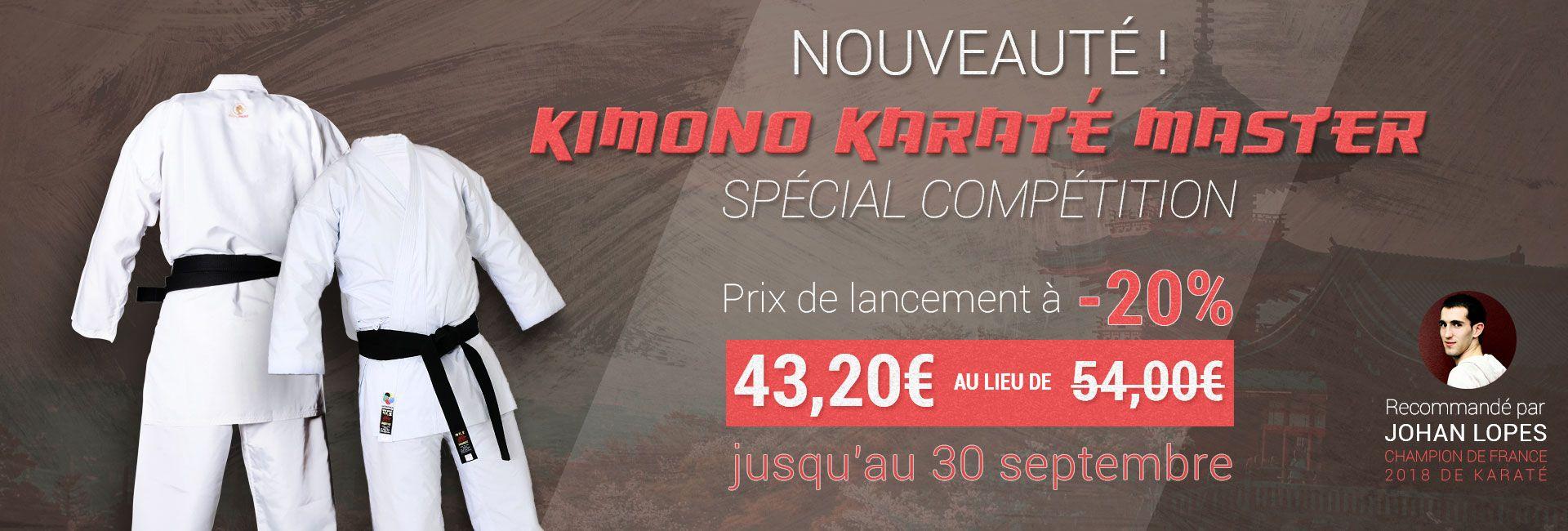 Nouveauté : Kimono Master Karaté en promotion