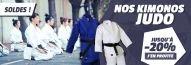 Jusqu'à -20% sur nos kimonos judo