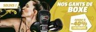Jusqu'à -40% sur nos gants de boxe avec Budo Fight