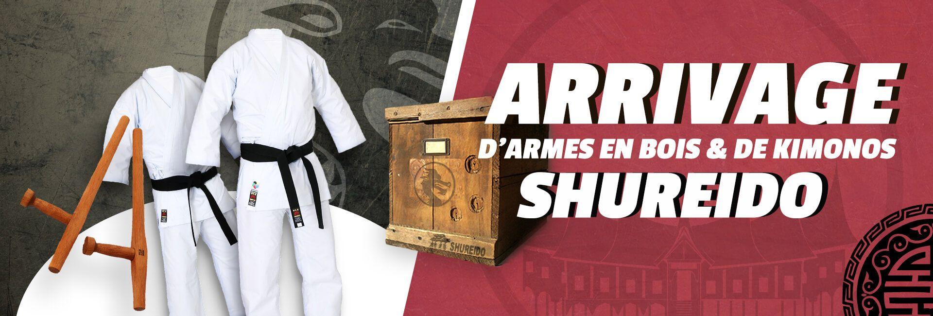 Arrivage de kimonos & armes en bois Shureido