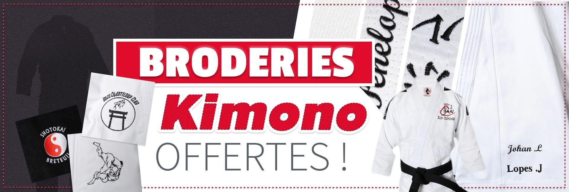 Les broderies kimono sont offertes