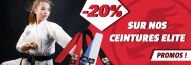 -20% sur les ceintures Elite Budo Fight WKF ou non !