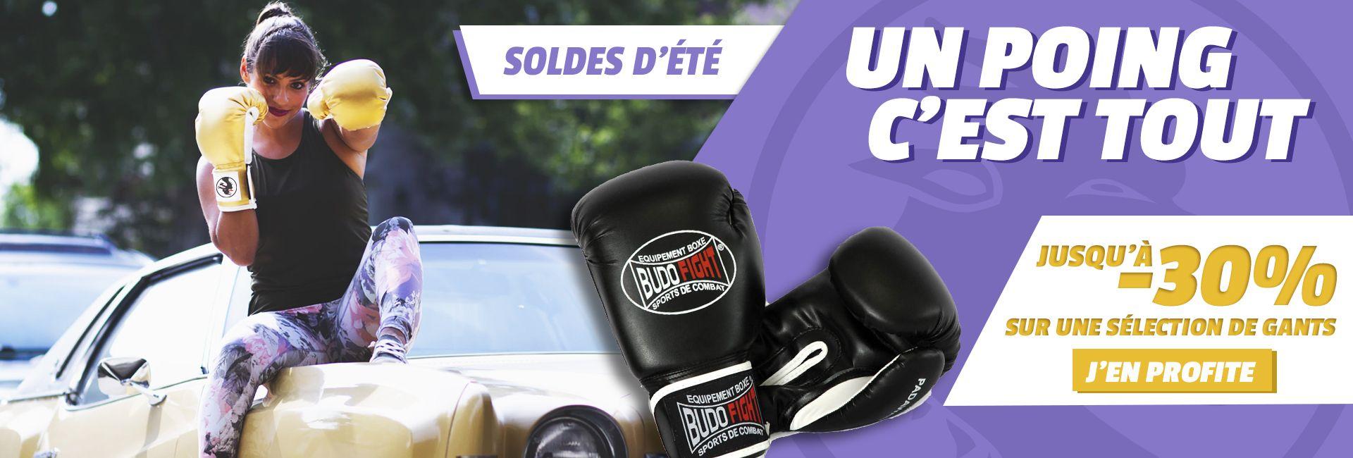Soldes d'été Budo-Fight : jusqu'à -30% sur les gants de boxe